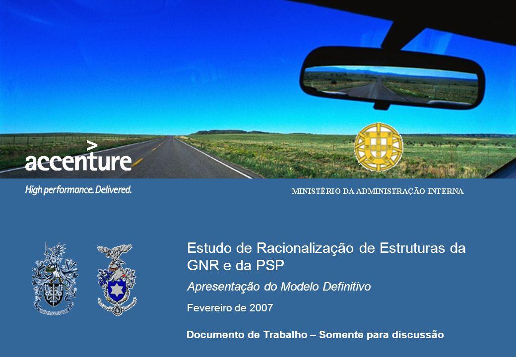 Estudo de Racionalização de Estruturas da GNR e da PSP