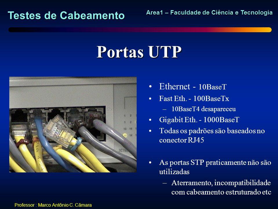 Portas UTP Ethernet - 10BaseT Fast Eth. - 100BaseTx