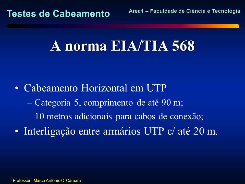 A norma EIA/TIA 568 Cabeamento Horizontal em UTP