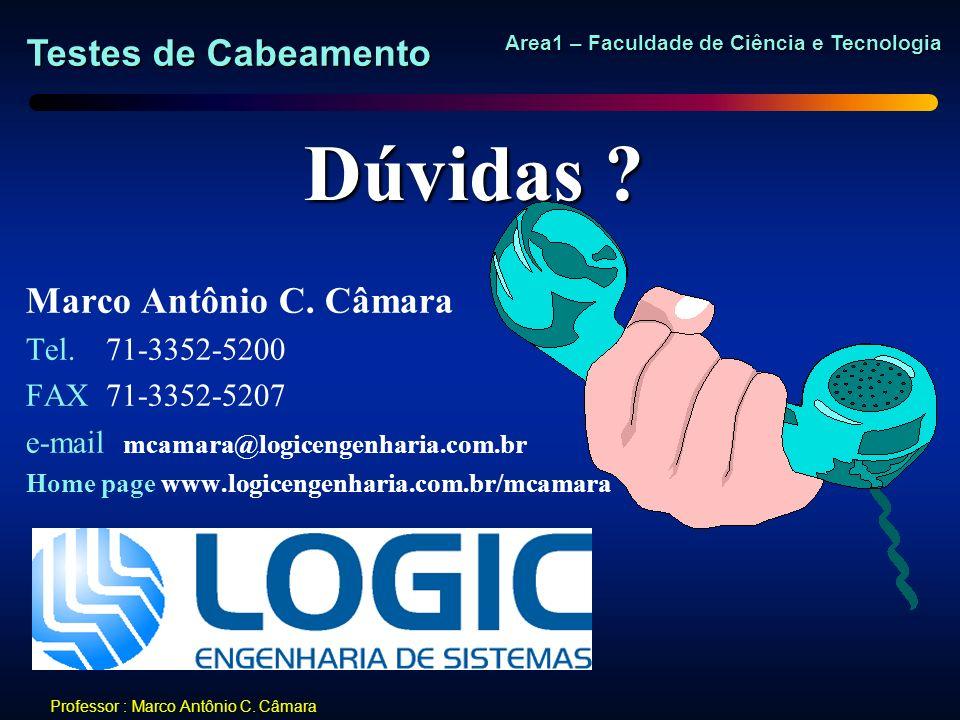 Dúvidas Marco Antônio C. Câmara Tel. 71-3352-5200 FAX 71-3352-5207