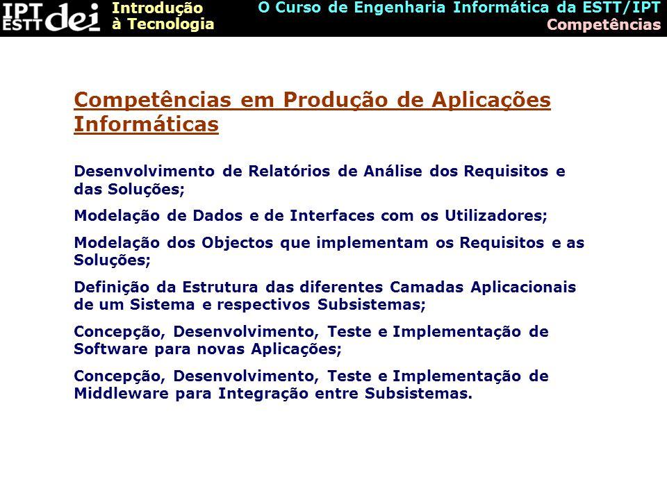 Competências em Produção de Aplicações Informáticas