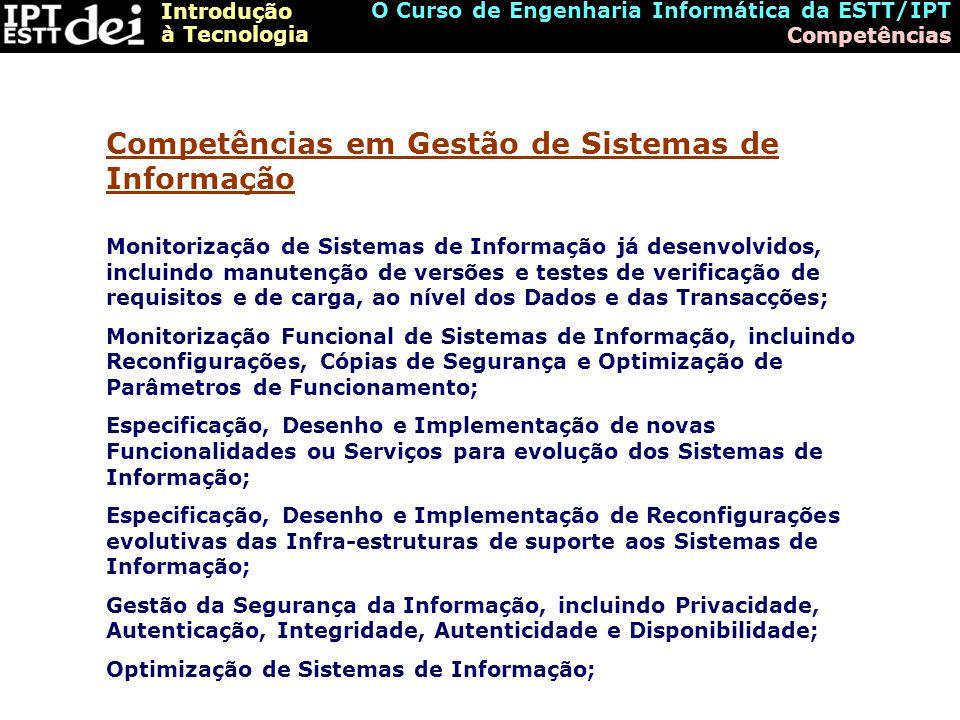 Competências em Gestão de Sistemas de Informação
