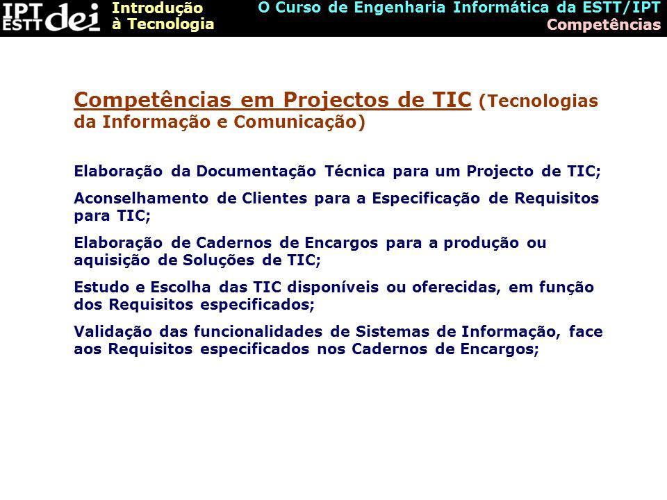 O Curso de Engenharia Informática da ESTT/IPT