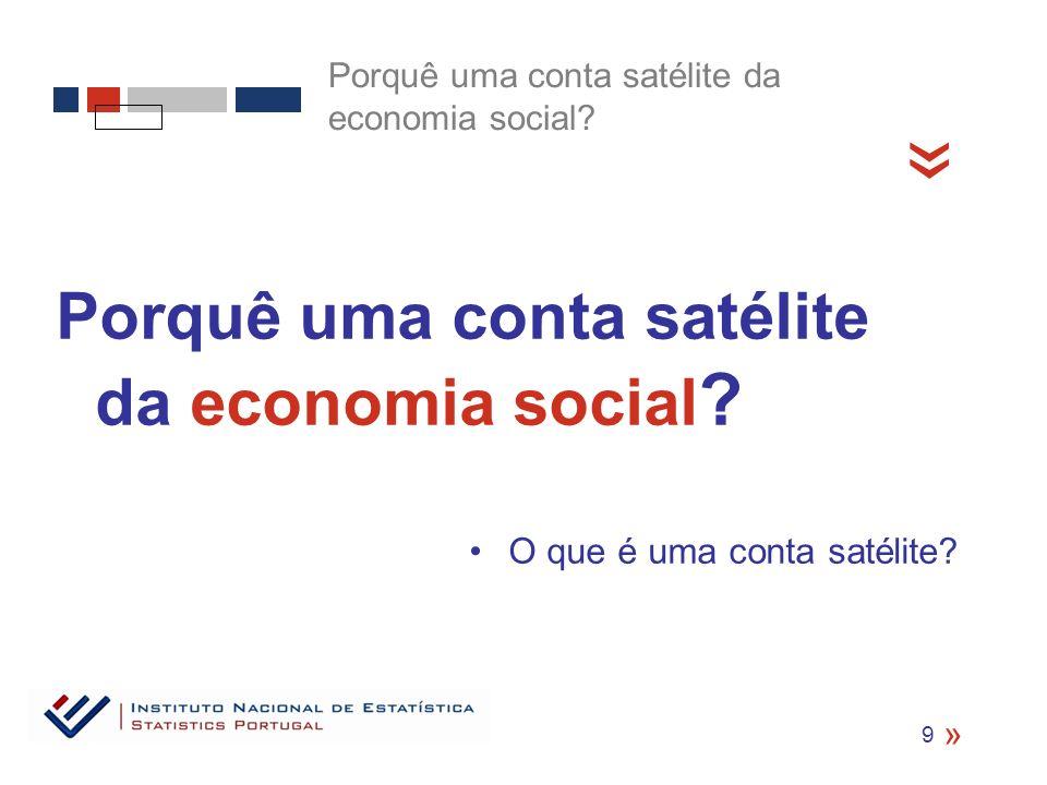 « Porquê uma conta satélite da economia social