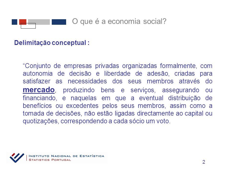 O que é a economia social