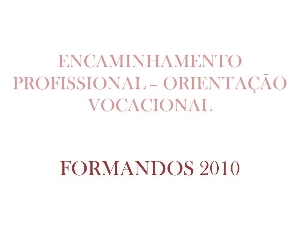 ENCAMINHAMENTO PROFISSIONAL – ORIENTAÇÃO VOCACIONAL
