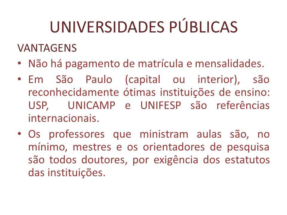 UNIVERSIDADES PÚBLICAS