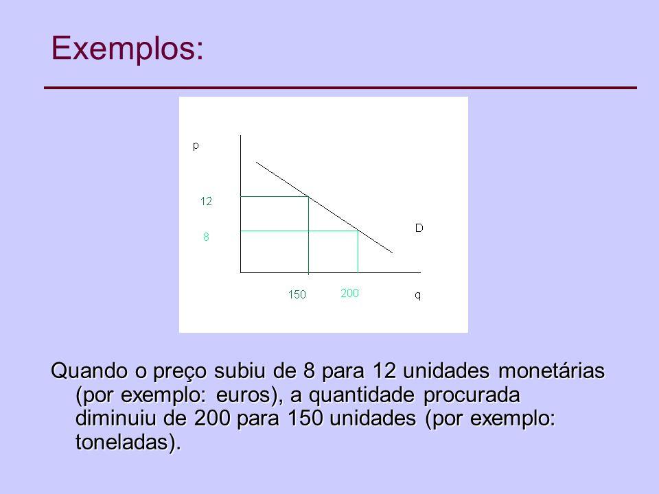 Exemplos: