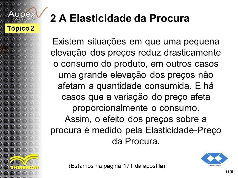 2 A Elasticidade da Procura