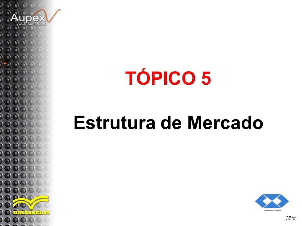 TÓPICO 5 Estrutura de Mercado