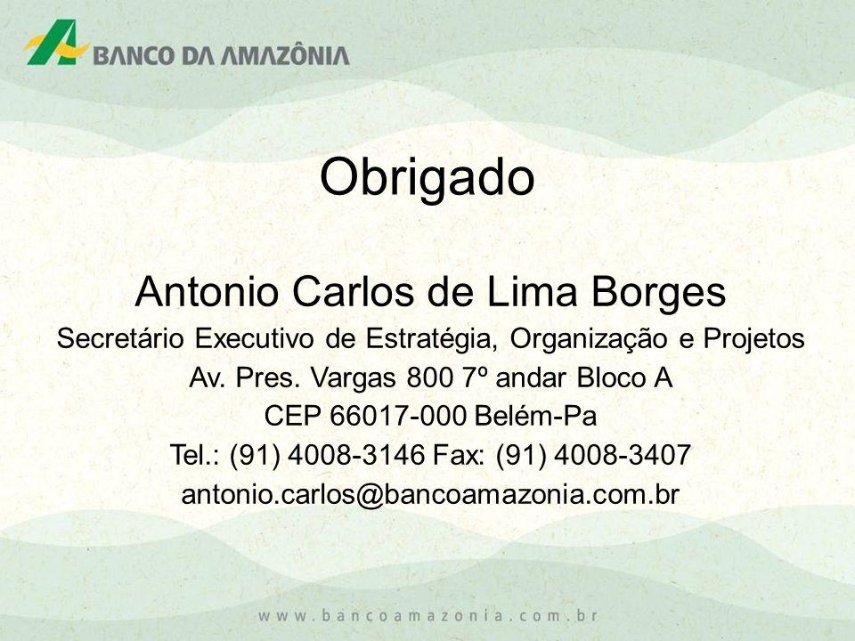 Obrigado Antonio Carlos de Lima Borges