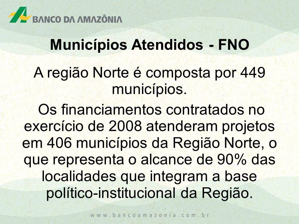 Municípios Atendidos - FNO