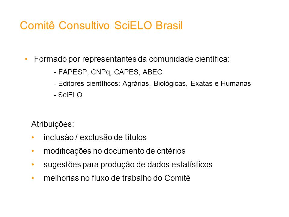 Comitê Consultivo SciELO Brasil