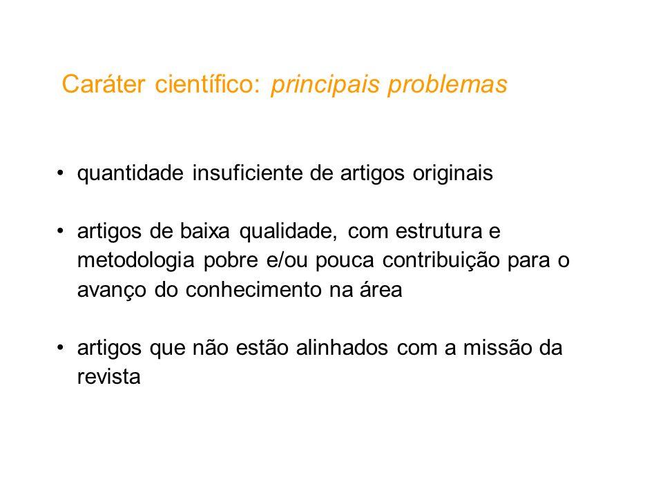 Caráter científico: principais problemas