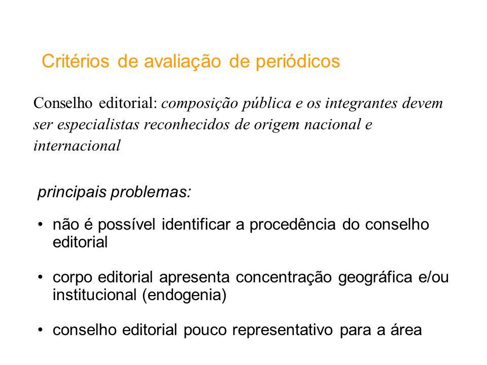 Critérios de avaliação de periódicos