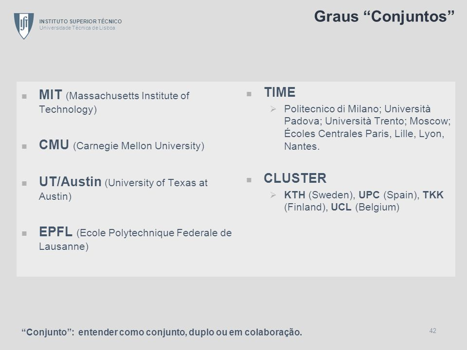 Graus Conjuntos MIT (Massachusetts Institute of Technology)
