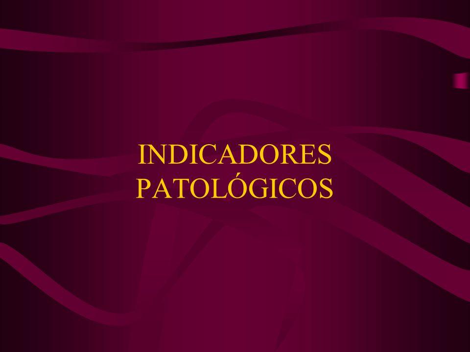 INDICADORES PATOLÓGICOS