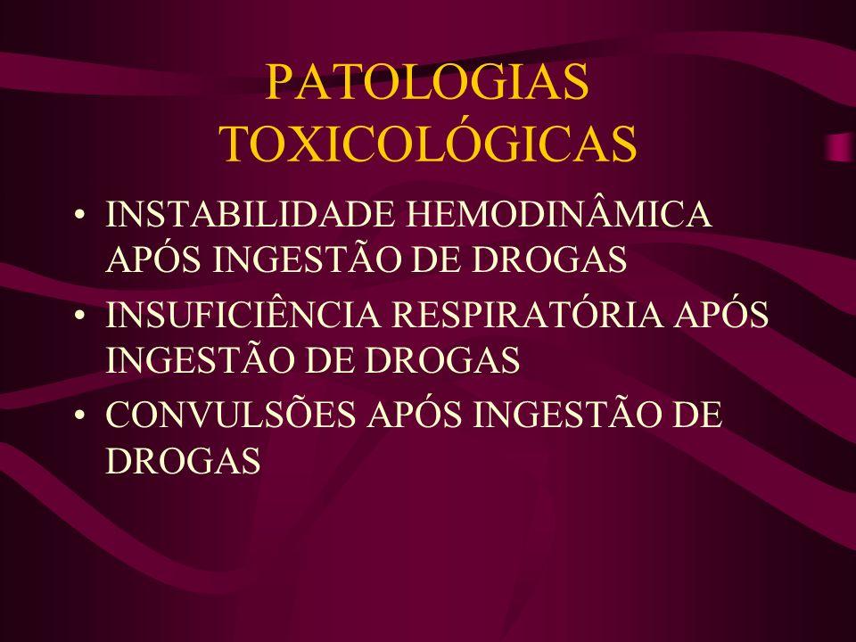 PATOLOGIAS TOXICOLÓGICAS