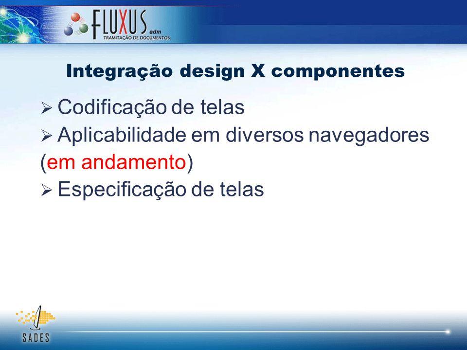 Integração design X componentes