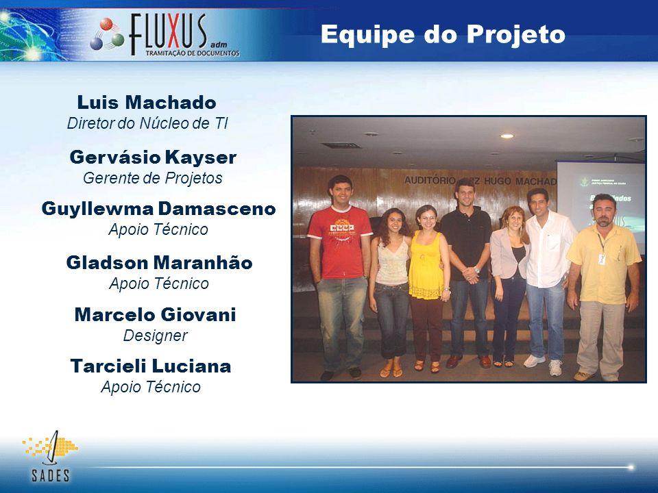 Equipe do Projeto Luis Machado Gervásio Kayser Guyllewma Damasceno