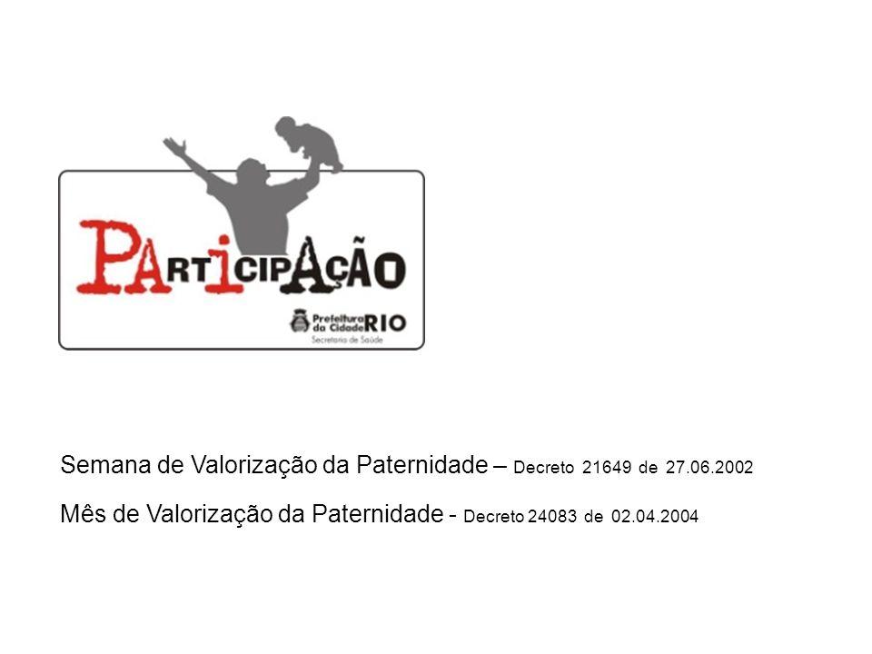 Semana de Valorização da Paternidade – Decreto 21649 de 27.06.2002