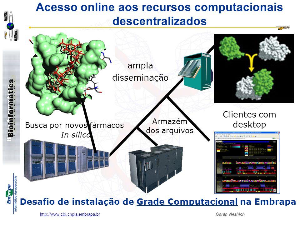 Acesso online aos recursos computacionais descentralizados