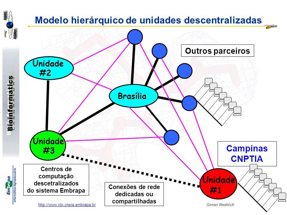 Modelo hierárquico de unidades descentralizadas