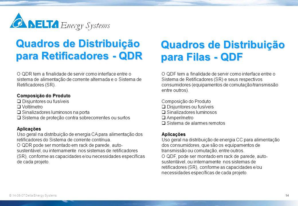 Quadros de Distribuição para Retificadores - QDR