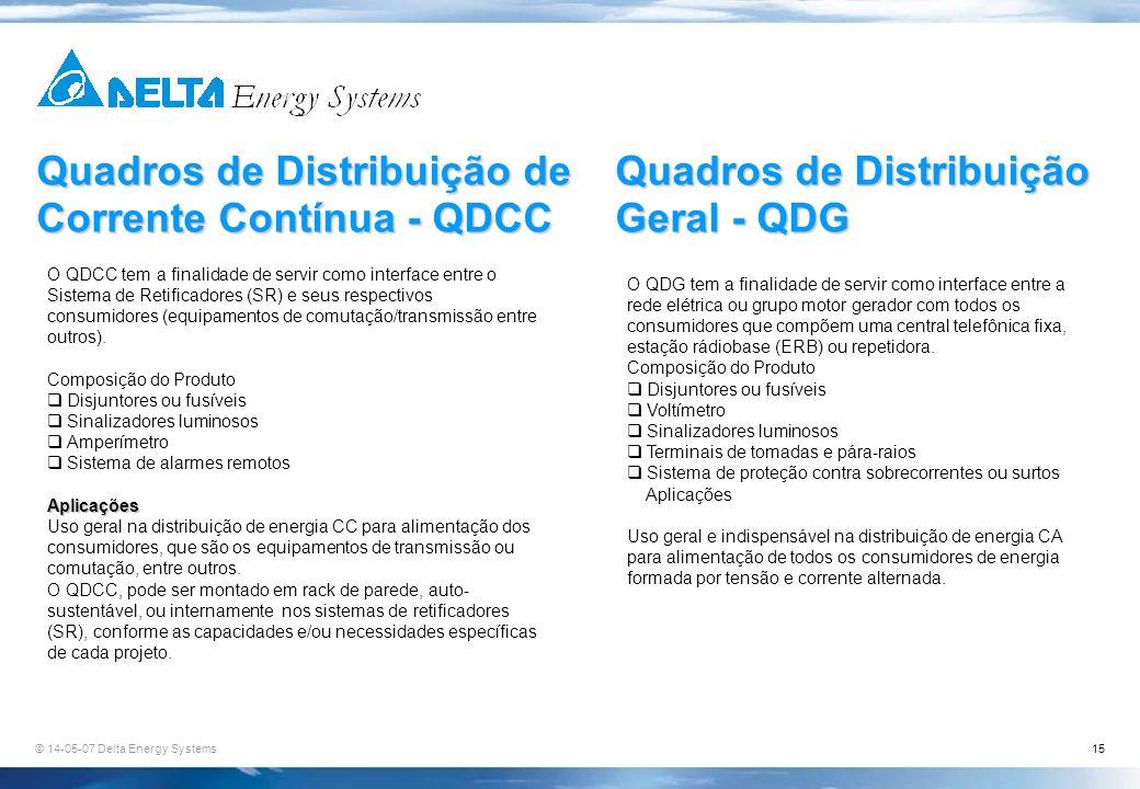 Quadros de Distribuição de Corrente Contínua - QDCC