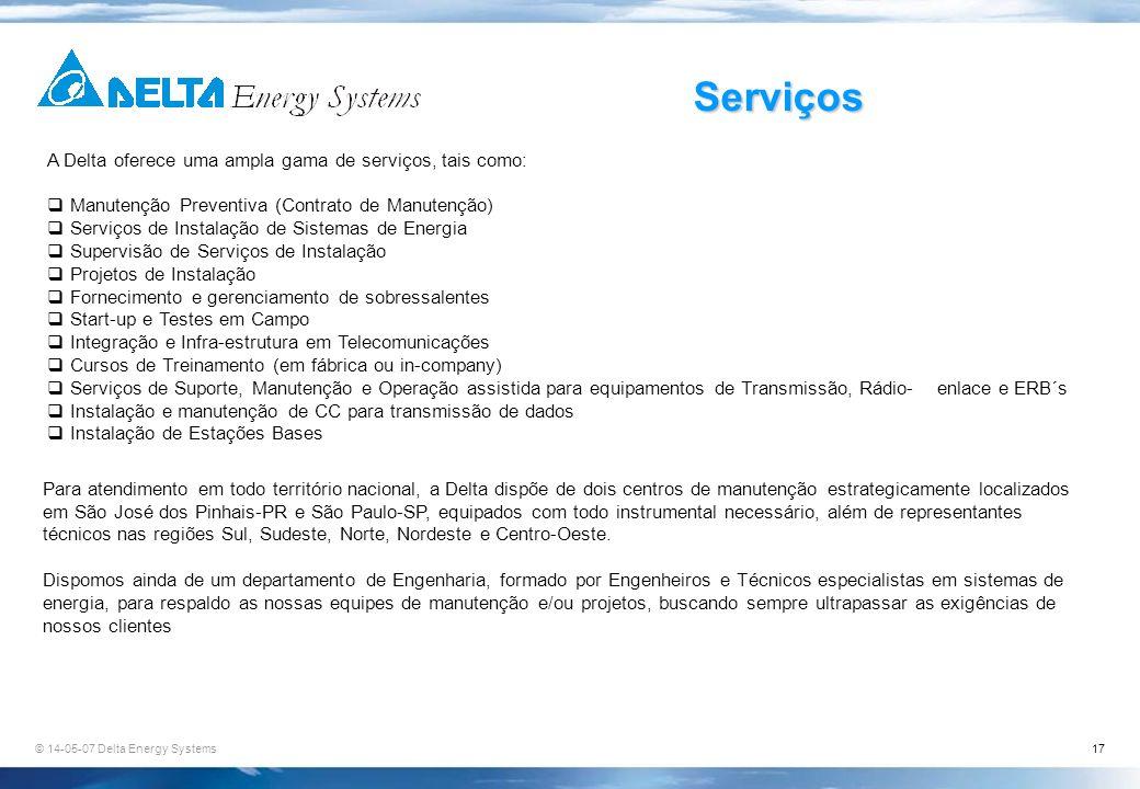 Serviços A Delta oferece uma ampla gama de serviços, tais como: