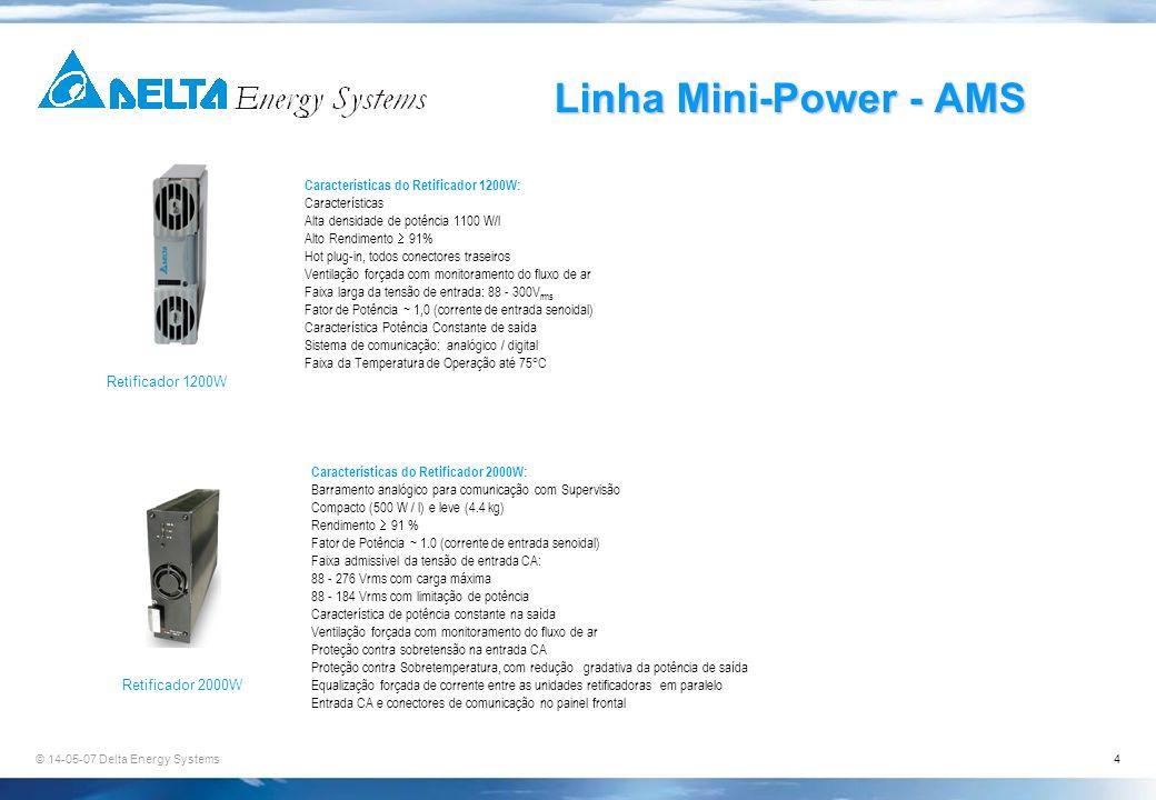 Linha Mini-Power - AMS Características do Retificador 1200W:
