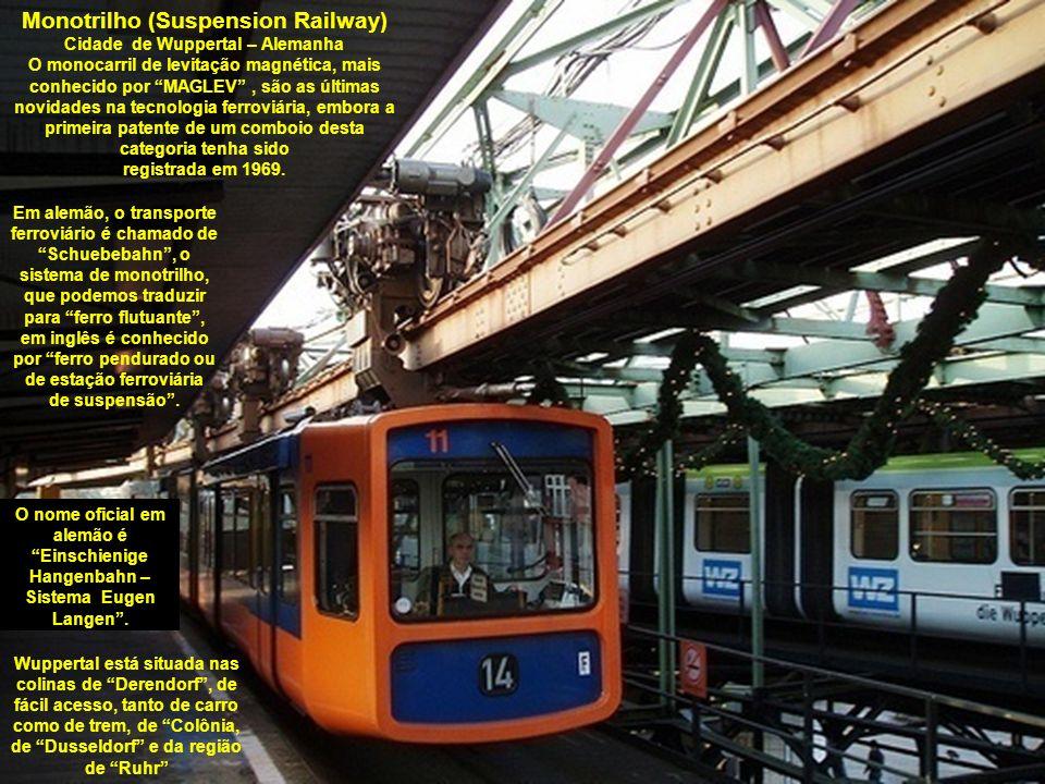 Monotrilho (Suspension Railway) Cidade de Wuppertal – Alemanha
