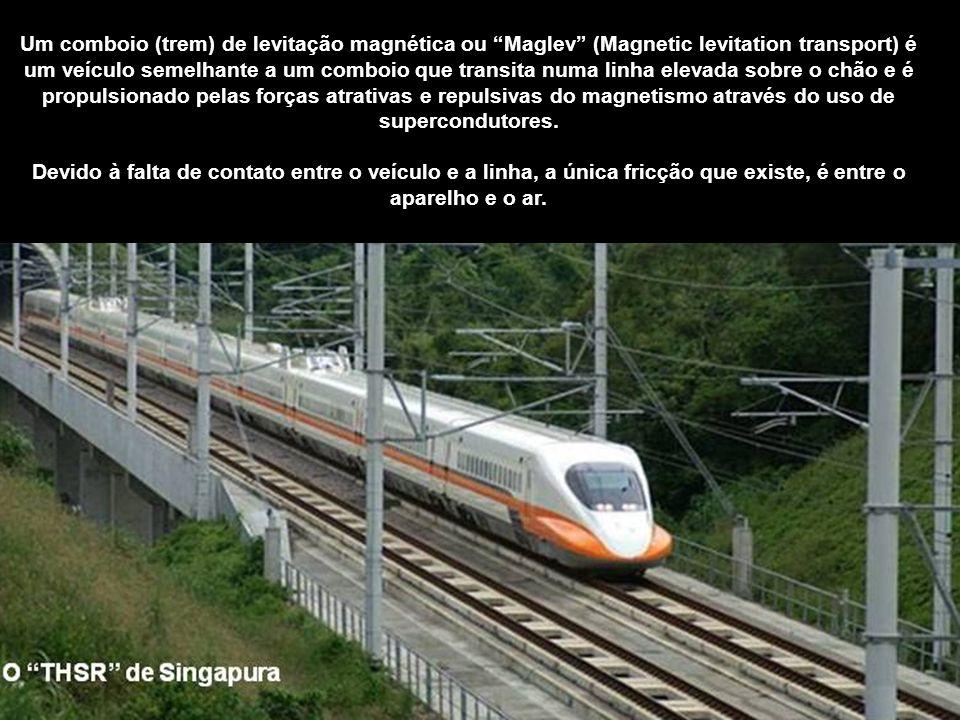 Um comboio (trem) de levitação magnética ou Maglev (Magnetic levitation transport) é um veículo semelhante a um comboio que transita numa linha elevada sobre o chão e é propulsionado pelas forças atrativas e repulsivas do magnetismo através do uso de supercondutores.