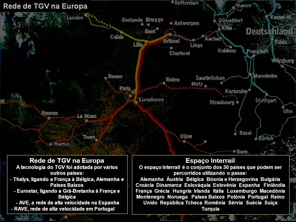 Rede de TGV na Europa Espaço Interrail