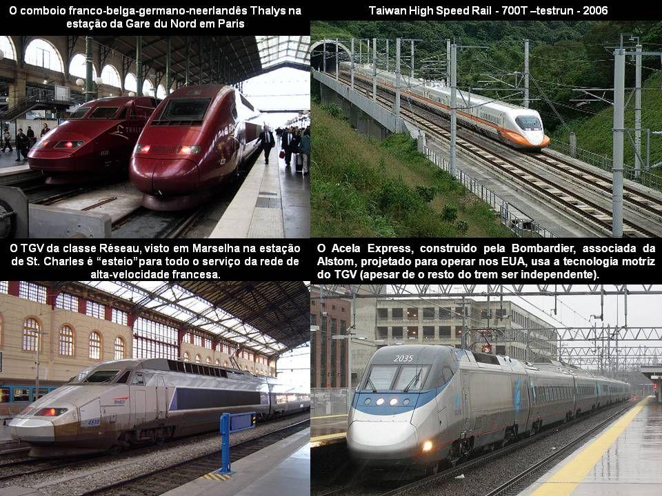 O Acela Express, construído pela Bombardier, associada da Alstom, projetado para operar nos EUA, usa a tecnologia motriz do TGV (apesar de o resto do trem ser independente).