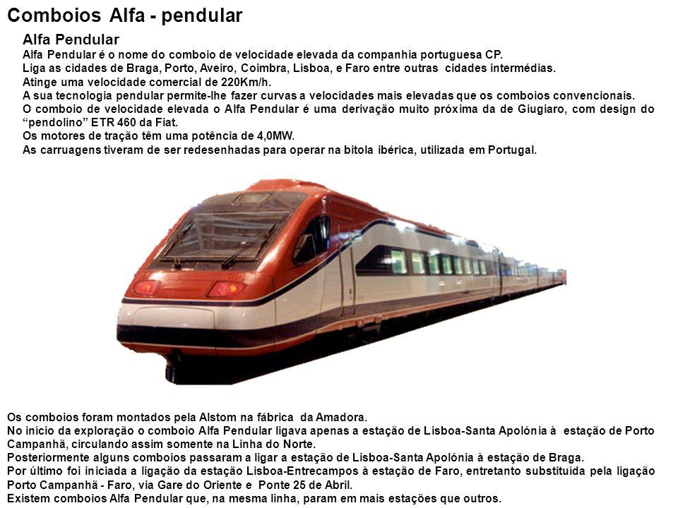 Comboios Alfa - pendular
