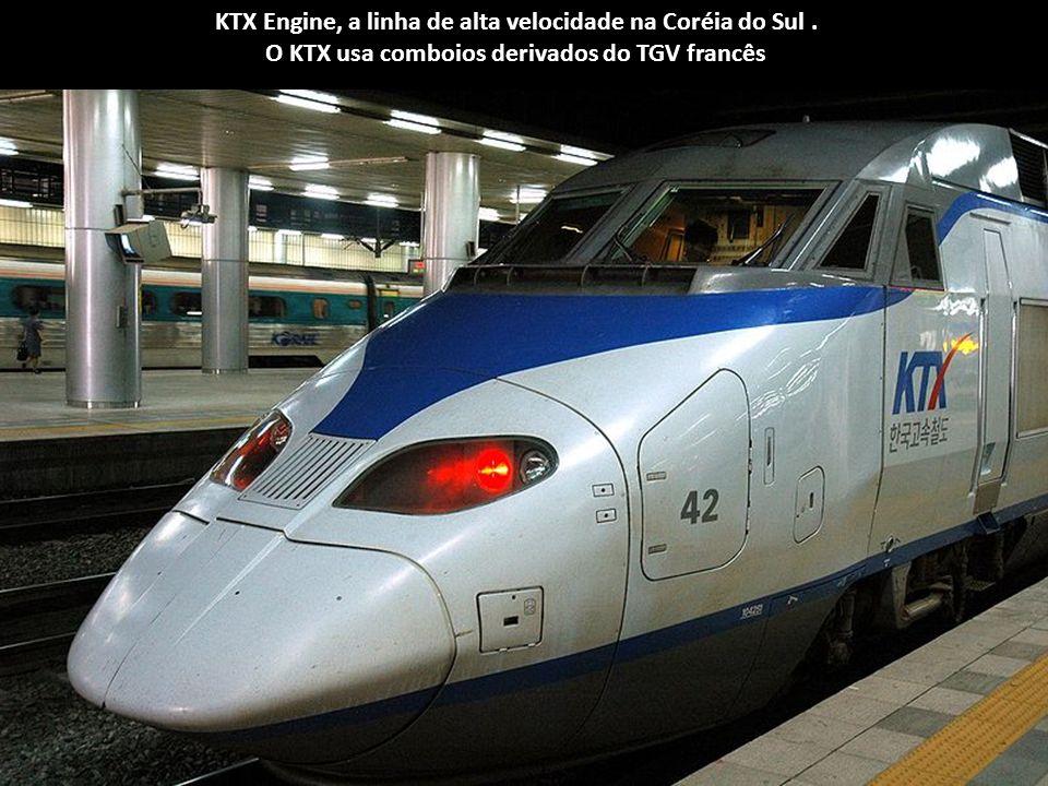 KTX Engine, a linha de alta velocidade na Coréia do Sul .