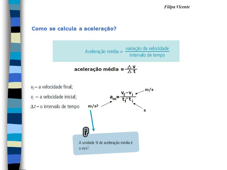 Como se calcula a aceleração