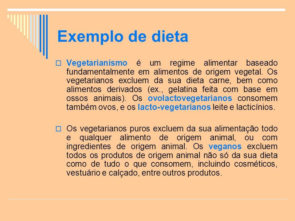 Exemplo de dieta