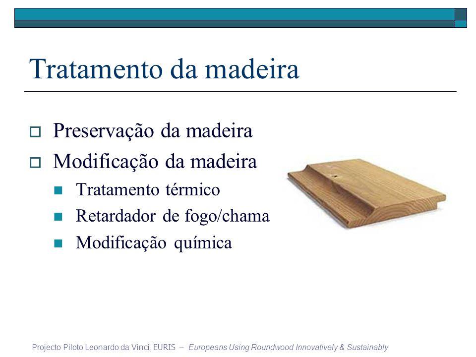 Tratamento da madeira Preservação da madeira Modificação da madeira