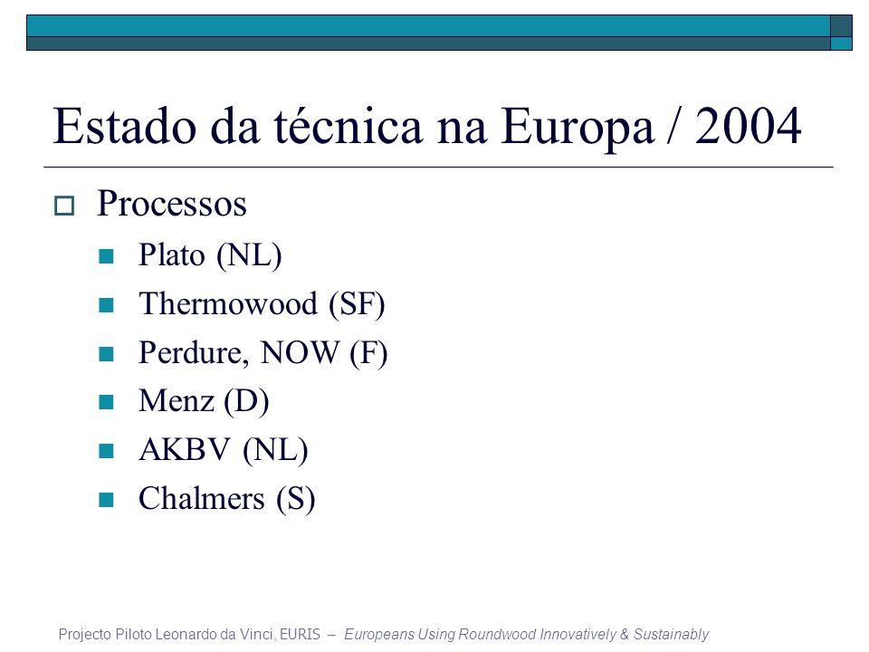 Estado da técnica na Europa / 2004