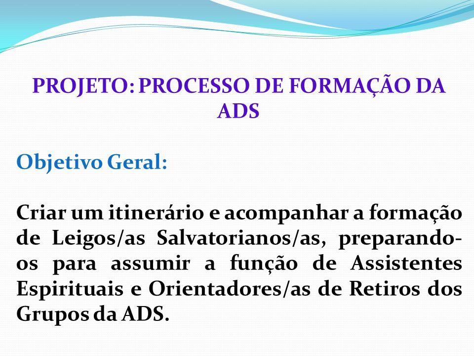 PROJETO: PROCESSO DE FORMAÇÃO DA ADS