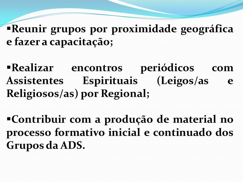 Reunir grupos por proximidade geográfica e fazer a capacitação;
