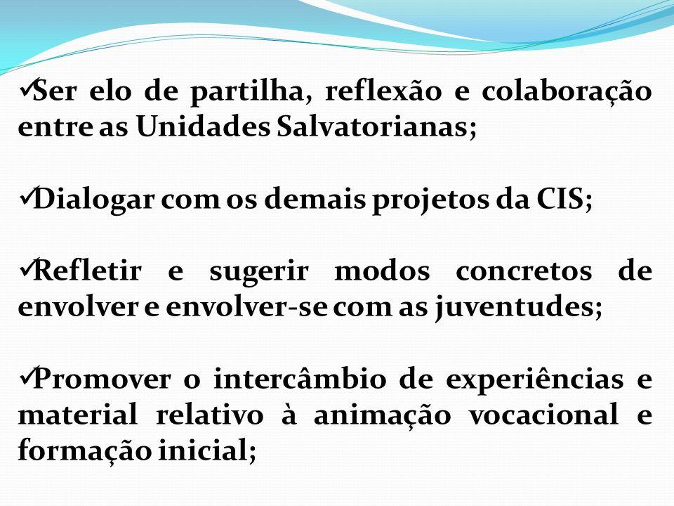 Ser elo de partilha, reflexão e colaboração entre as Unidades Salvatorianas;