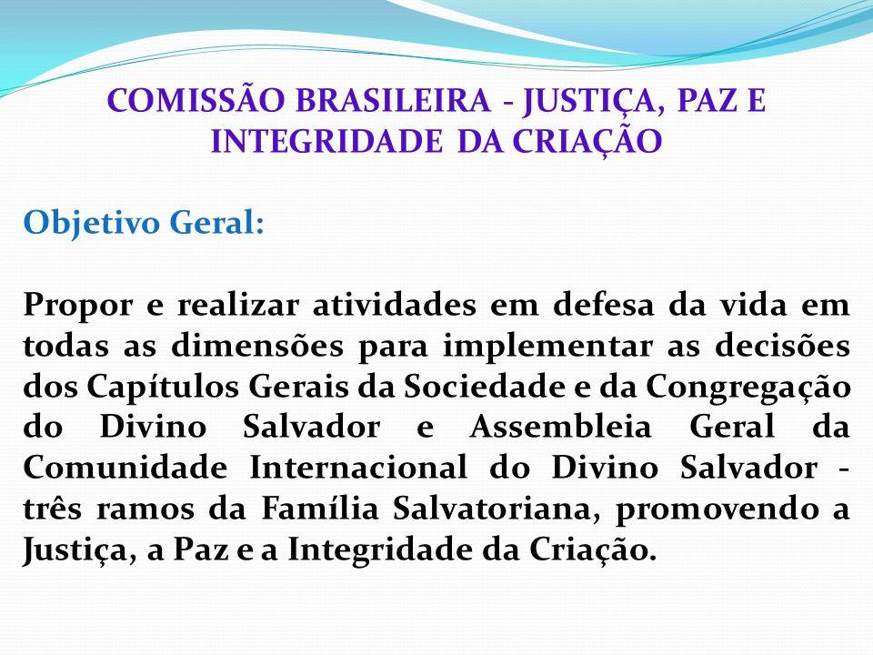 COMISSÃO BRASILEIRA - JUSTIÇA, PAZ E INTEGRIDADE DA CRIAÇÃO