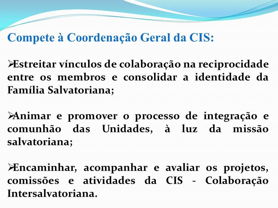 Compete à Coordenação Geral da CIS: