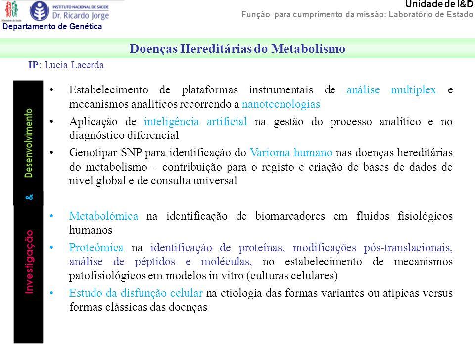 Doenças Hereditárias do Metabolismo