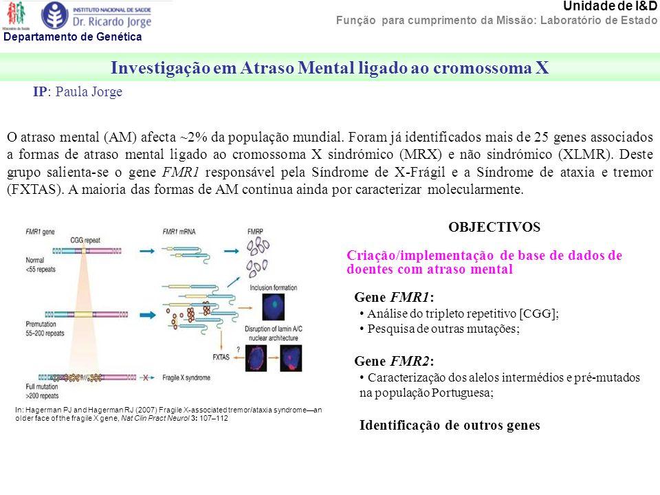 Investigação em Atraso Mental ligado ao cromossoma X