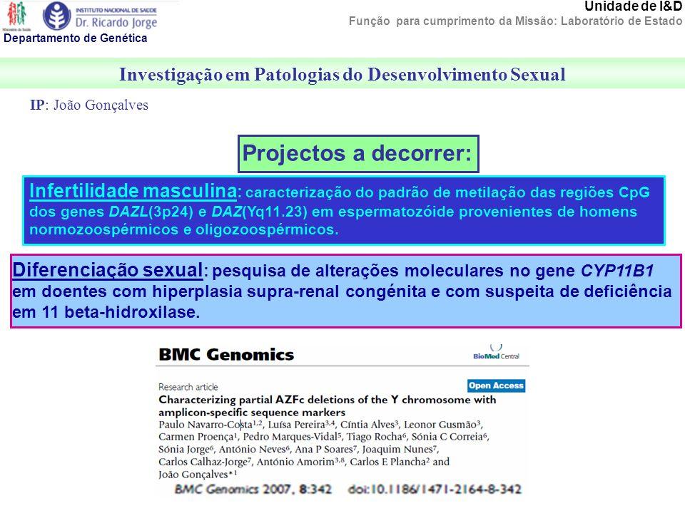 Investigação em Patologias do Desenvolvimento Sexual