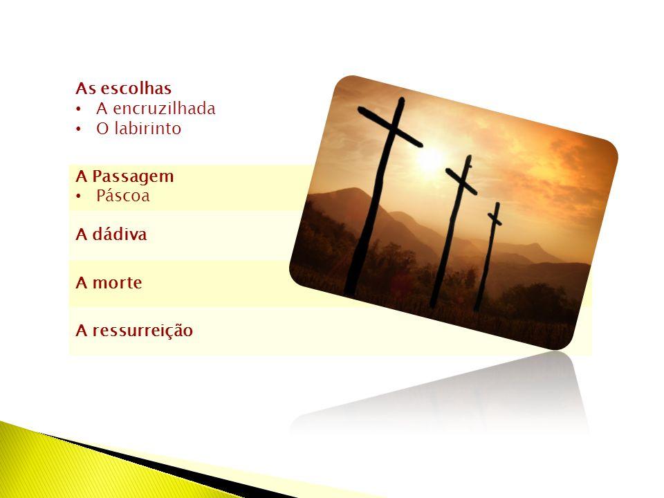 As escolhas A encruzilhada O labirinto A Passagem Páscoa A dádiva A morte A ressurreição